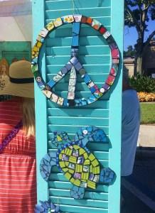 Mosaics at New Smyrna Beach Farmers Market in Florida