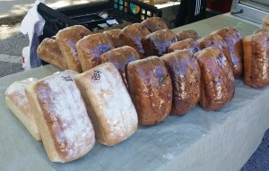 Bread Loaves at New Smyrna Beach Farmers Market in Florida