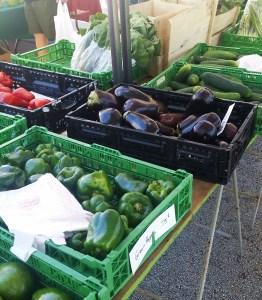 Produce at New Smyrna Beach Farmers Market in Florida