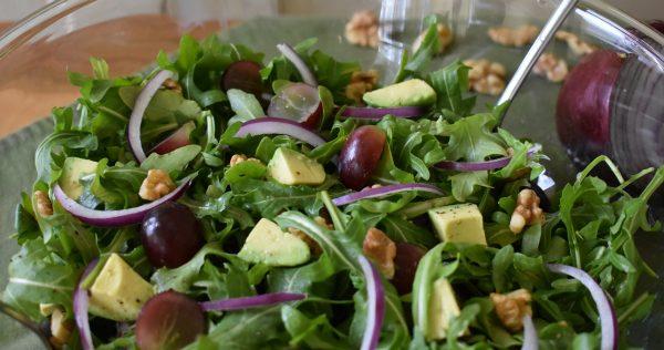 grape avocado arugula salad
