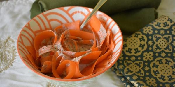 carrot tahini dill salad