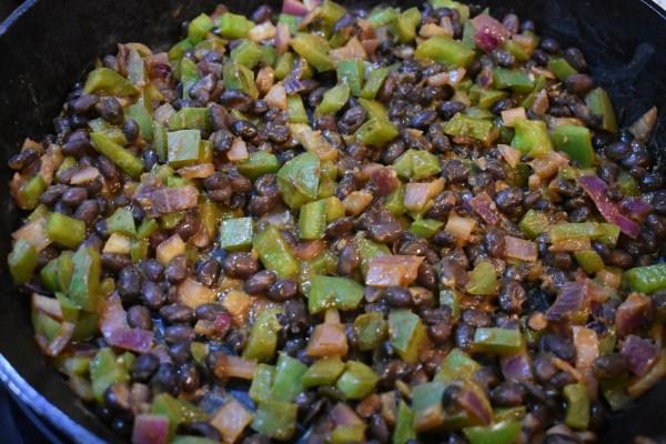 black bean potato enchiladas