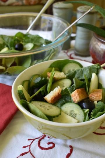 baby leaf summer salad