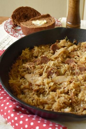 rustic sauerkraut casserole