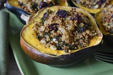 quinoa kale stuffed acorn squash