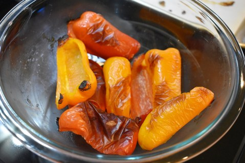 roasted red and yellow bell peppers