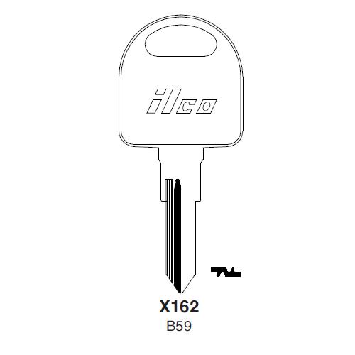 Metal Head: Ilco X162 (B59) Key Blank : General Motors