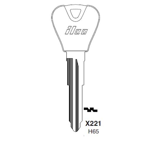 Metal Head: Ilco X221, H65-P (H65) Key Blank : Ford