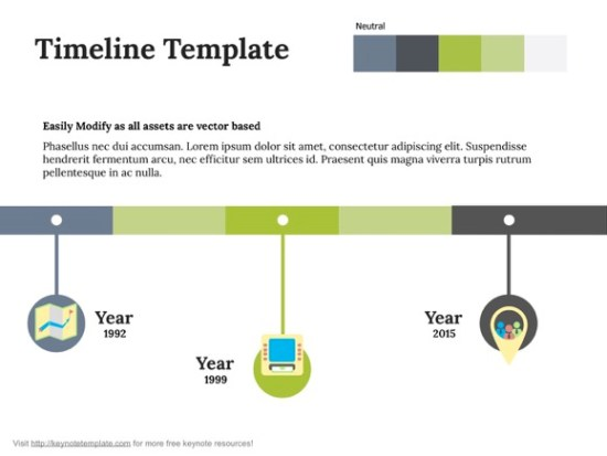 Free Timeline Keynote Template - Timeline template mac