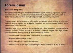 Ancient Paper Keynote Template - Slide 2