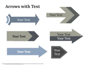 Keynote arrows with text