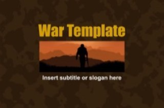 War Camouflage Keynote Template
