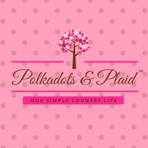 Pink Polkadots & Plaid Square Logo Pinterest