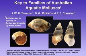 Families of Australian Aquatic Molluscs home screen