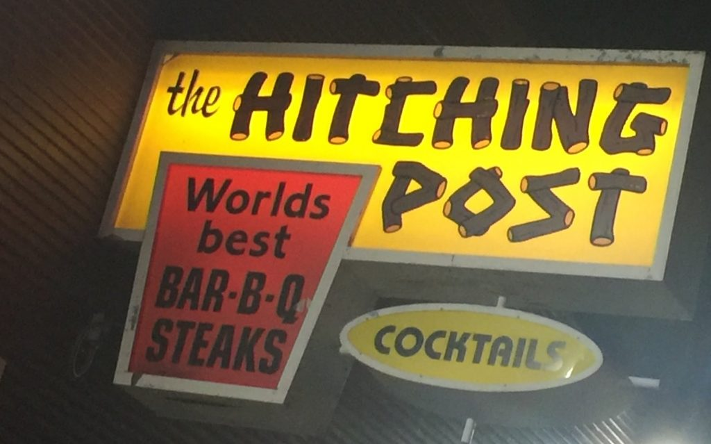 Hitching Post Sign