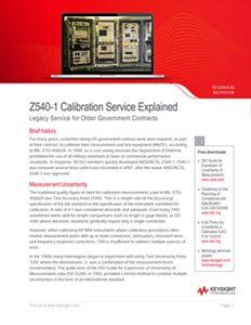 Calibration Service Selection Guide   Keysight