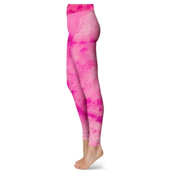 Pink Watercolor Leggings