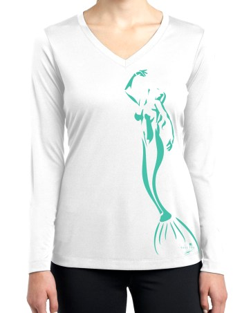 Florida Keys Green Minimal Mermaid Long Sleeve