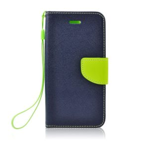 Fancy Book case navy-lime - Galaxy A6+ (2018)