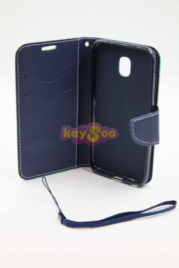 Samsung J3 2016  Fancy Book case mint-navy