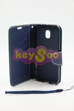Samsung J3 2017  Fancy Book case mint-navy