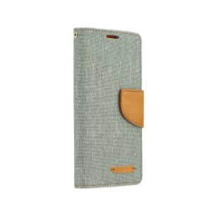 Canvas Book case gray Galaxy J7 2017