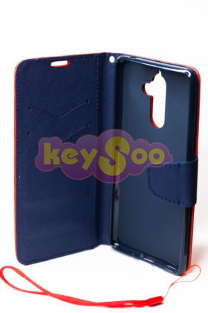 Fancy Book case red-navy Lumia 7 Plus