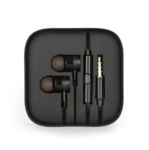 Earphones HF Stereo Black Box Metal