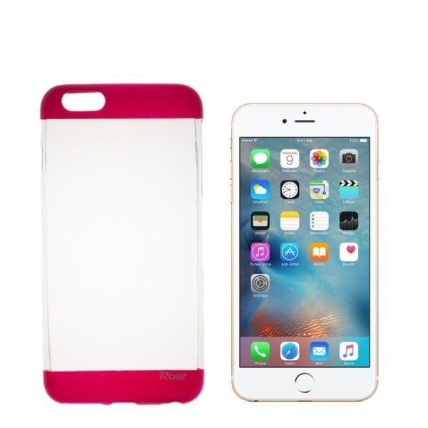Roar Fit UP Clear Case red - iPhone 6/6s Plus