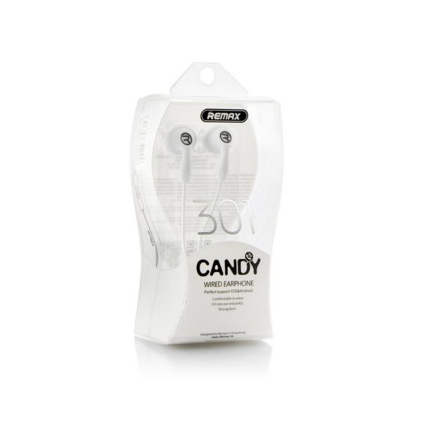 Earphones Remax RM-301 Candy white