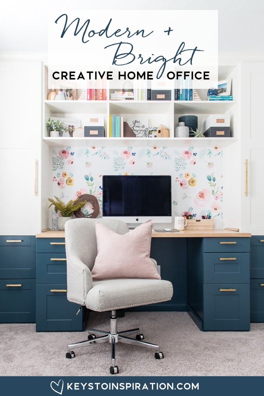 Modern And Bright Creative Home Office Reveal One Room Challenge Week 6 Christene Holder