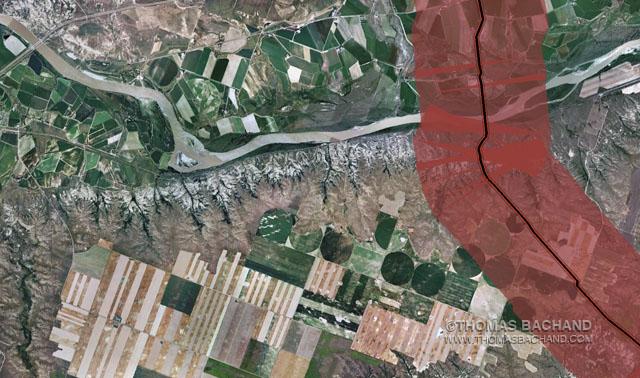 Keystone Mapping Project: Oil Spill Voluntary Evacuation Zone.  Fallon,  Montana.