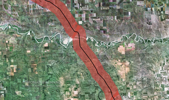 South of Draper, SD.  Proposed Keystone XL route. Voluntary Evacuation Zone.
