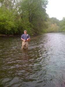 Peter on the Tulpehocken. One of our favorite places to fish.