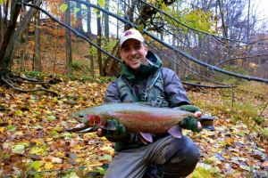 We sent good vibes along with this dude who we helped land his first steelhead even though he low-holed us. Note to beginners: 5wt/6wt rods will work...just plan on being there for a while! Good karma folks, pass it around.