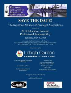 2018 Education Summit: Professional Responsibility @ Lehigh Carbon Community College, Lisa Scheller and Wayne Woodman Community Services Center