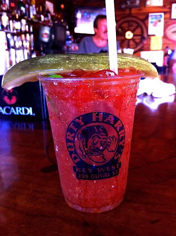 The secret recipe Bloody Mary at Ricks Tree Bar on upper Duval is famous with the locals.