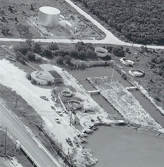 In this photo dated 1959, an aerial view of the property just west of Vaca Cut shows an aquarium. Dynasty Marine is constructing a similar attraction in the same spot. It will feature a huge tank where visitors can snorkel or dive to learn more about Keys marine life as well as other displays and activities.