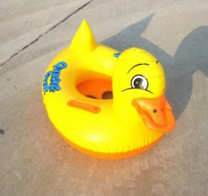 """Who needs to put on """"party pants"""" when you're wearing a duck?"""