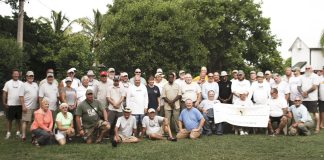 Healing waters - A group of people posing for a picture - Social group