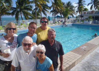 #News: Cabana Club restoration begins (Iconic oceanfront club closed for two months) - A group of people posing for the camera -