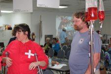"The hospital's ""B Positive"" team included Petra Steinmetz, Tammy Beaulieu and Kelly Reid."