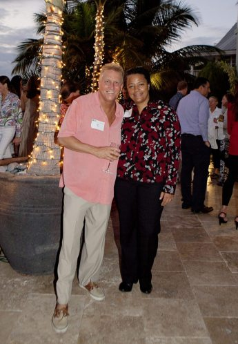Equality Florida CEO Nadine Smith and host Stan Zuba declare the evening a success.