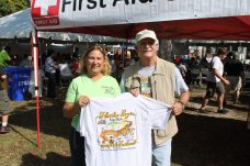 FKCFA Executive Director Bill Kelly and event Coordinator Vicki Gale pause to show off this year's T-shirt. The dedicated pair were instrumental to the success of another incredible festival.
