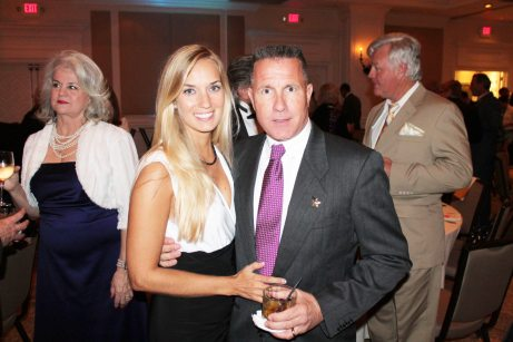 The newlyweds! Sheriff Rick Ramsay and his beautiful wife Erin attend.
