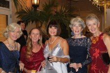 Debbie Mason, Holly Merrill, Mimi McDonald, Bunnie Smith and Mary Ann Westerlund enjoy the function.