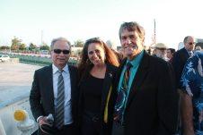 Leadership Monroe County Chairman Ray Rhash, Clerk of Court Amy Heavilin and Monroe County School Board member John Dick enjoyed the reception aboard the USCGC Ingham.