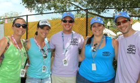 The Marathon Chamber of Commerce co-hosts the event with Organized Fishermen of Florida's Marathon Chapter. Seen here are Jeanine Christiansen, Chelsey Stewart, Daniel Samess, Christina Hager and Kyle Samess.