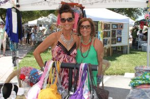 Mia Molek and Donna Kirchner of DK Style Hut sell some of the boutique's favorite picks at the event.