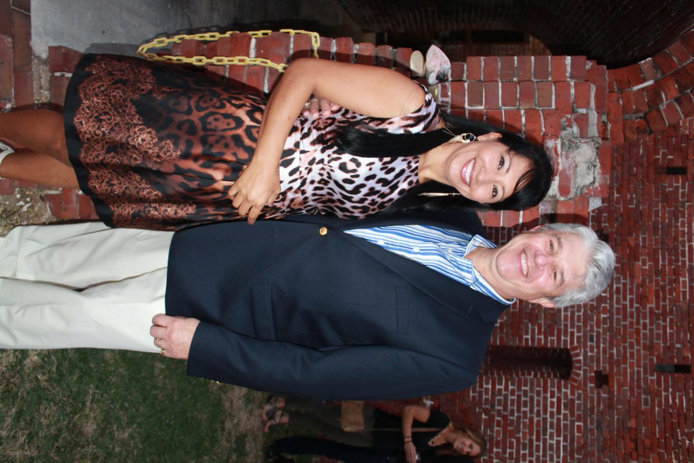 1. The honorable Mark Jones is accompanied by his lovely wife Marleny on a perfect evening beneath the stars.